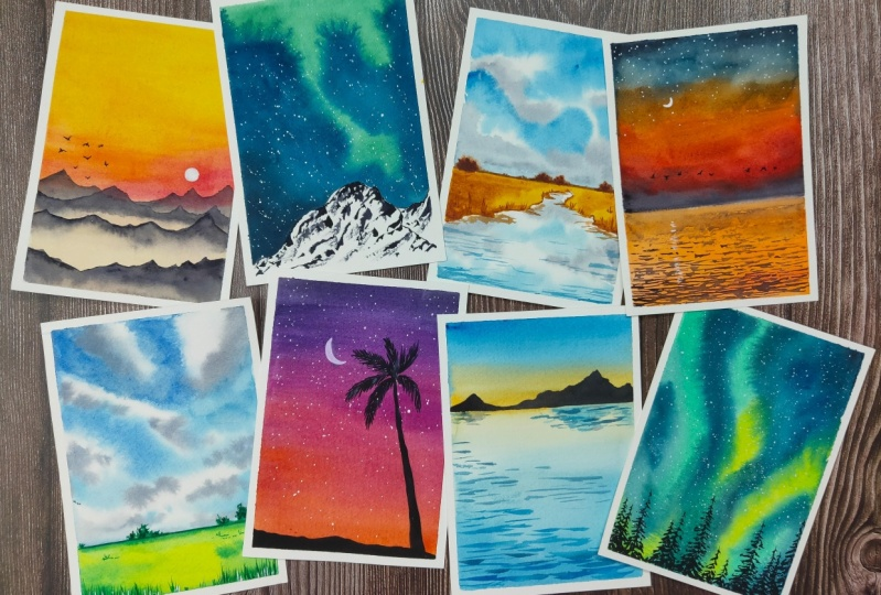 Watercolour Landscapes!!