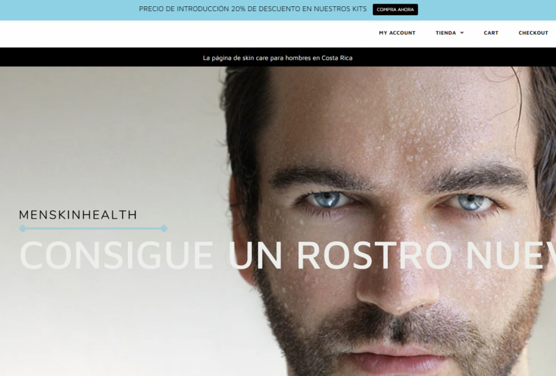 Men´s Skin Care Products Web Shop
