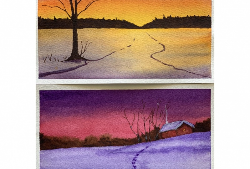 My take on Winter Sunsets project