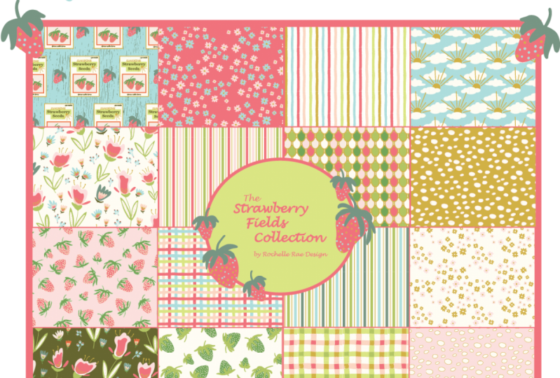 Strawberry Fields Collection by Rochelle Rae Design