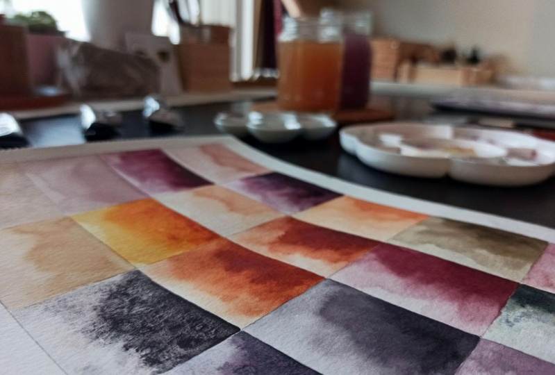 Colour swatches for a new collection