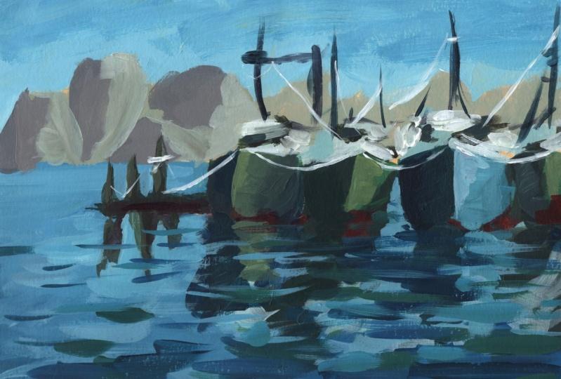Abstract Acrylic Boats