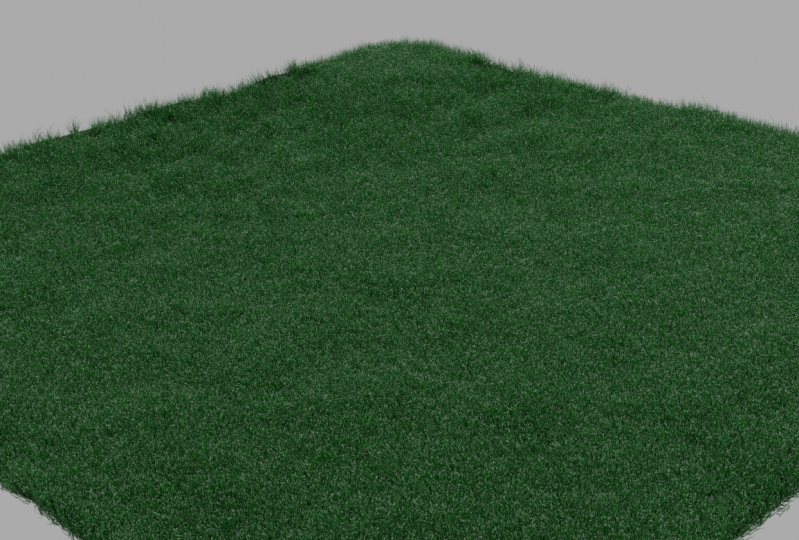 Grass & fluid particle animation