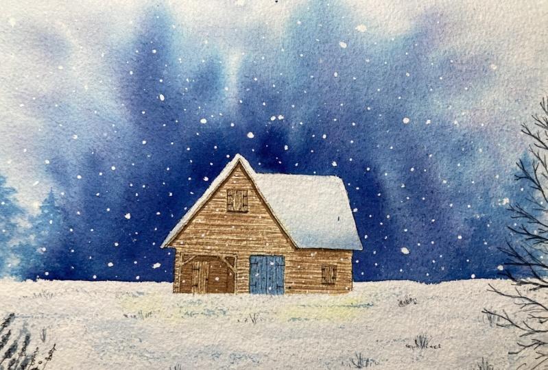 Winterywatercolorsplashes