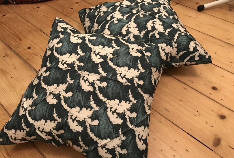First attempt at origami cushion cover!