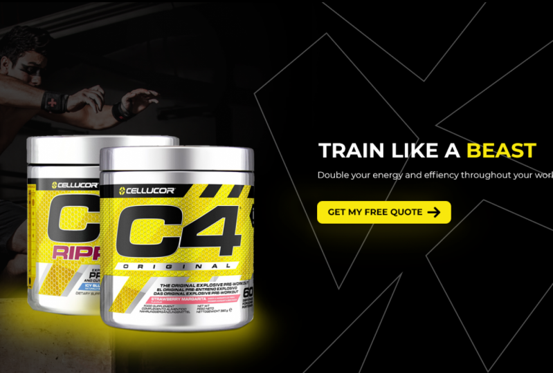 Imaginary e-commerce website for gym supplements