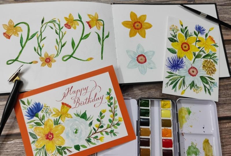 Watercolour Daffodils!