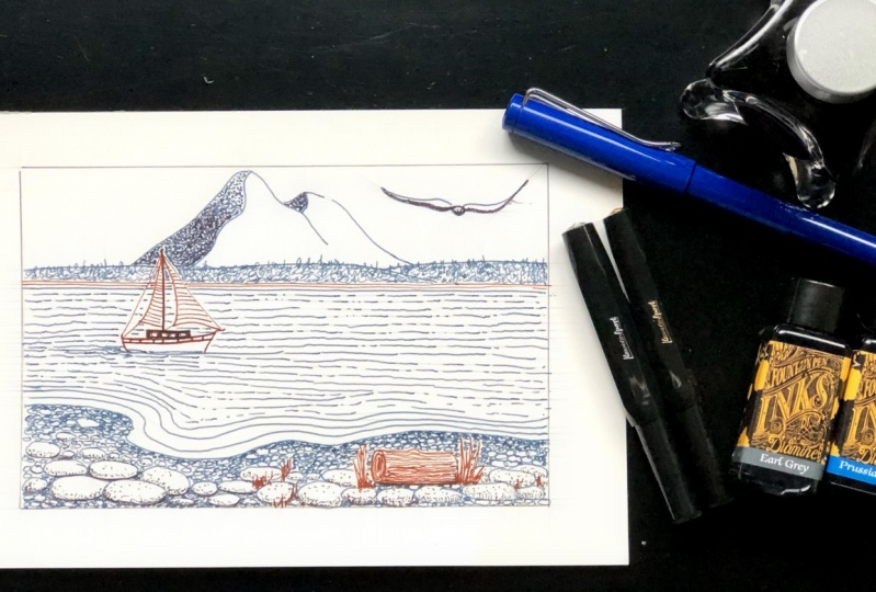 Beginner Fountain Pen inking