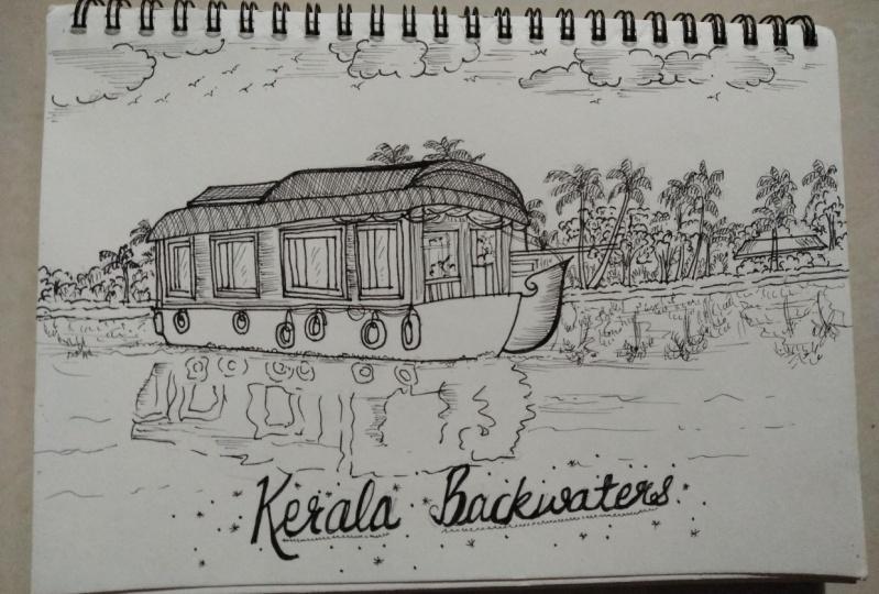 Travel destination doodle