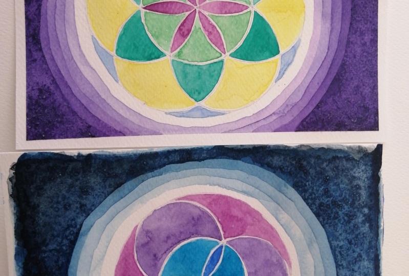 Watercolor & geometry