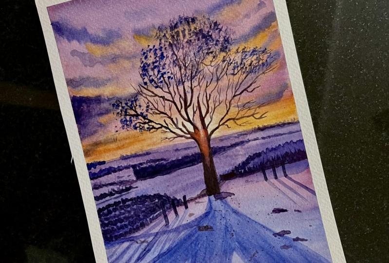 Sunset winter landscapes by Shiba