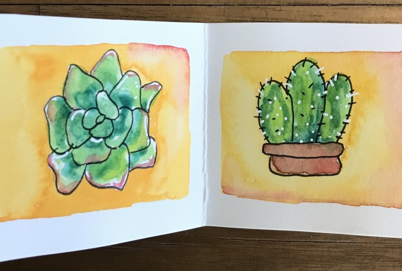 Succulent mini book