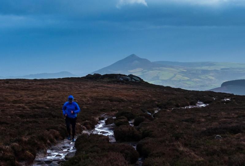 Mountain jogger - Photographic composition
