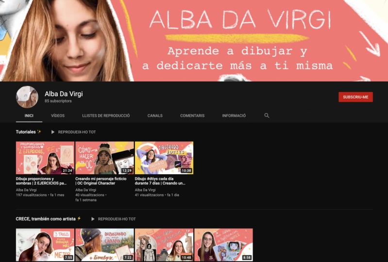 Alba Da Virgi - YouTube Channel Set Up!