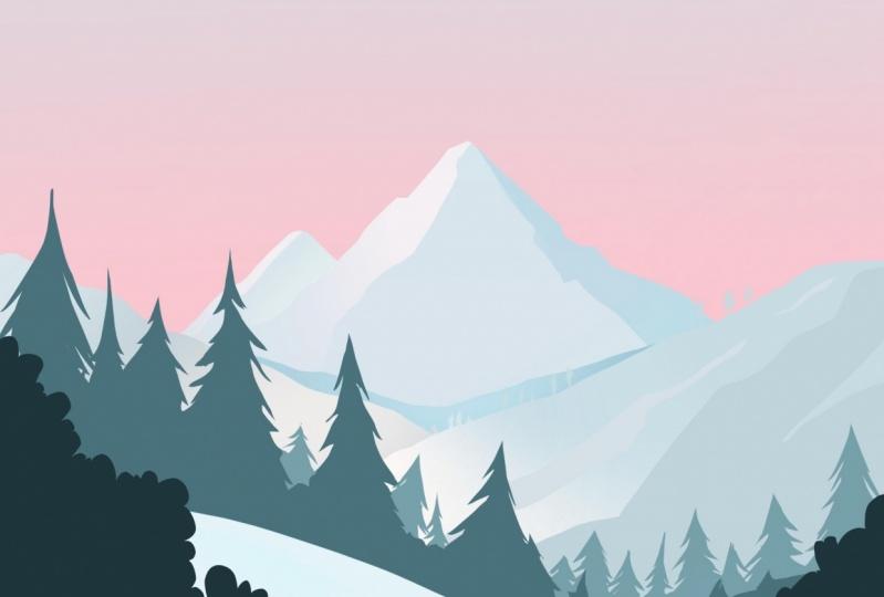 Simple mountain illustration