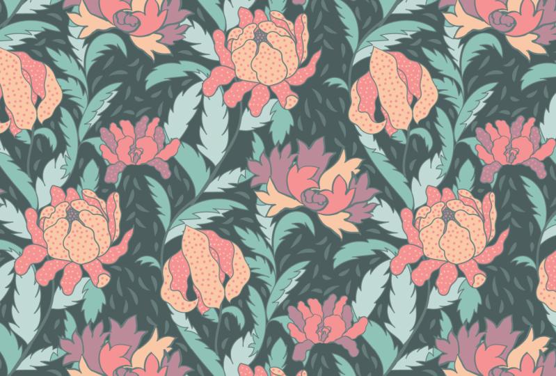 floral serpentine pattern
