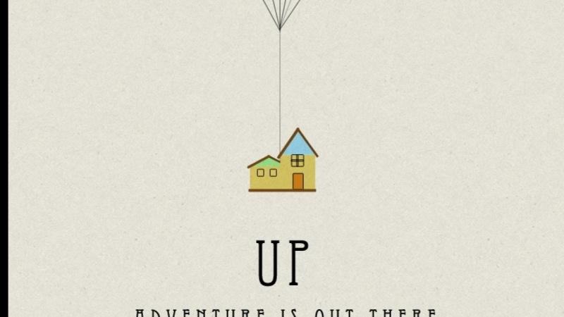 My Retro UP Movie Poster