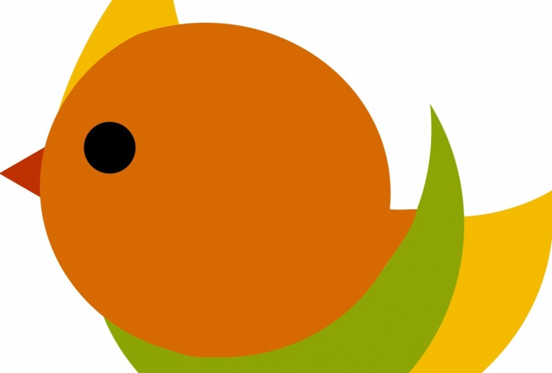 Bird Using shapes and shape builder tool