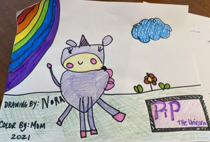 Unicorn by Nora age 5 and Mom age 45