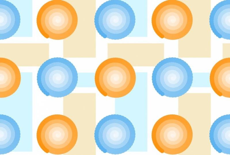 Colorful Spirals pattern