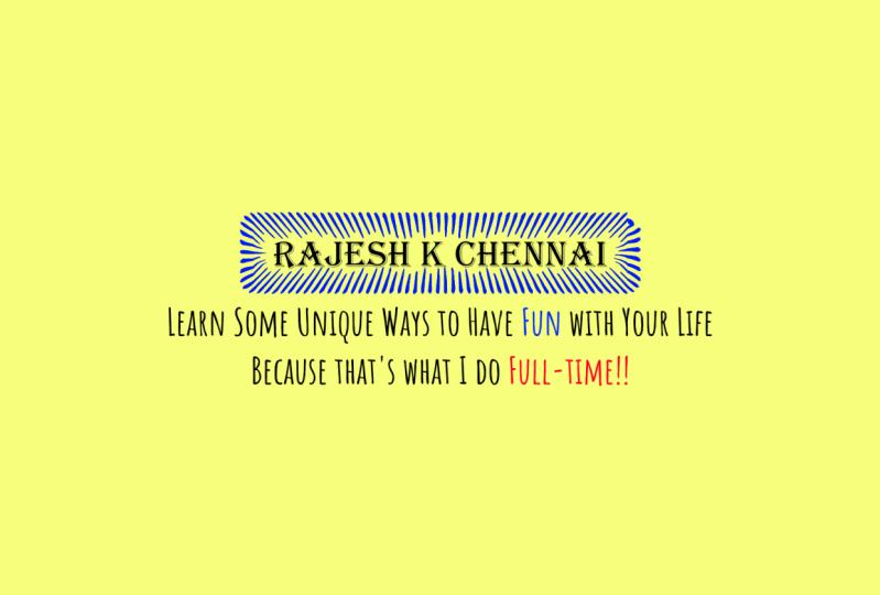 My Youtube Channel - Rajesh K Chennai
