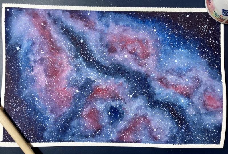 Watercolour Galaxies: Shapes