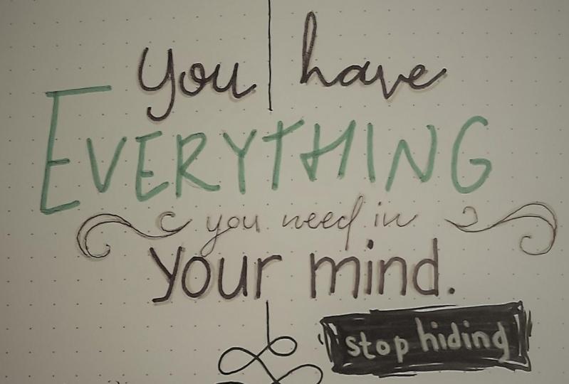 "Stop hiding your ""mind"""