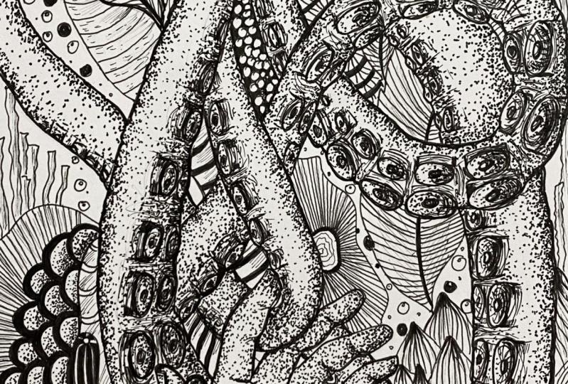 Ink pen line art