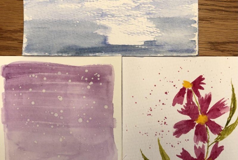 Three of the 5 minute paintings.