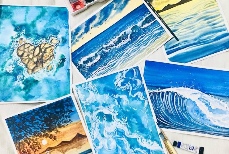 watercolor ocean waves 2.0
