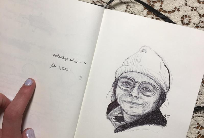 Quick practice portrait