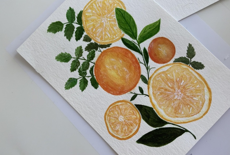 Orange Flatlay