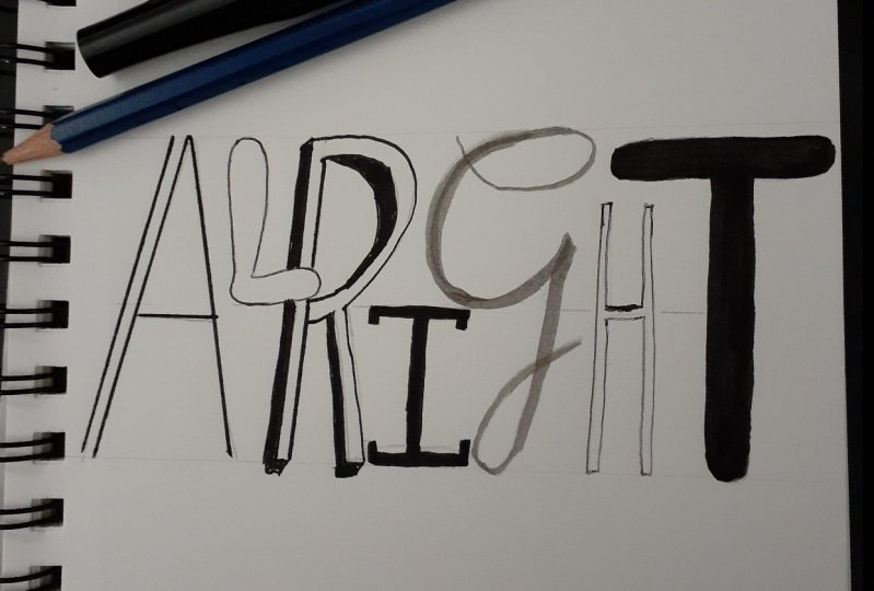 Hand Lettering the Alphabet - Class Project