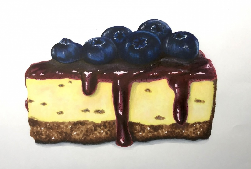 Blueberry Lemon Cheescake