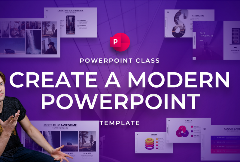 Modern PowerPoint Template by One Skill