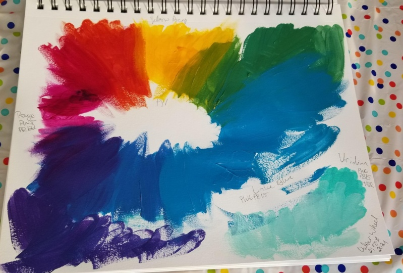 Firsr acrylic color wheel