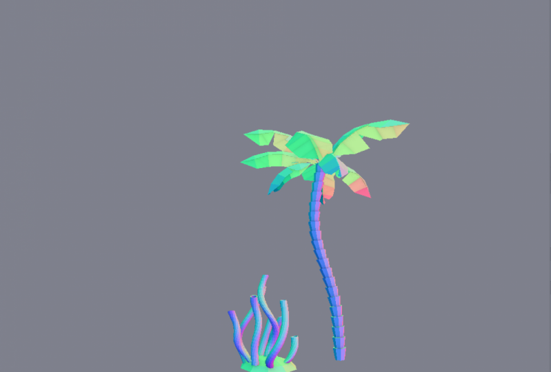 Coconut Tree and Coral