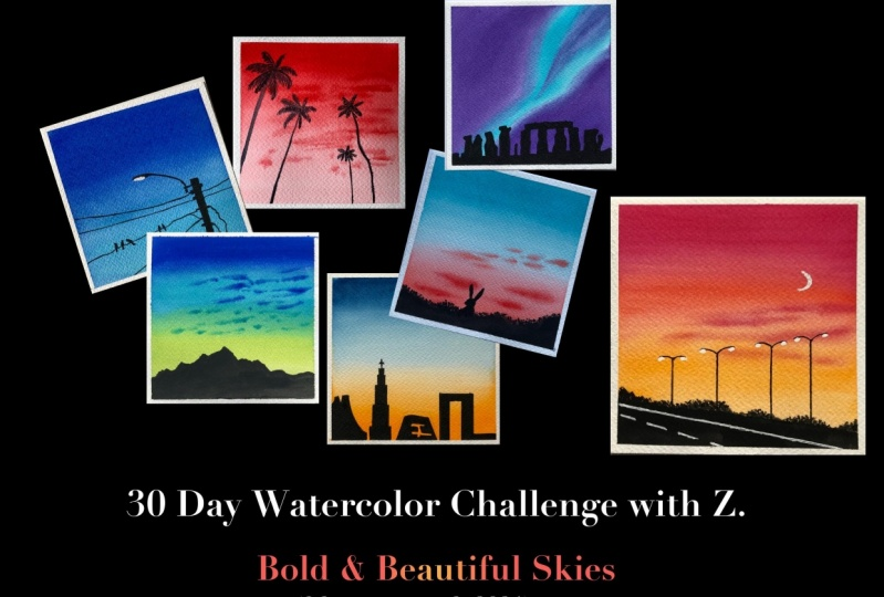 30 Day watercolor challenge - part 2