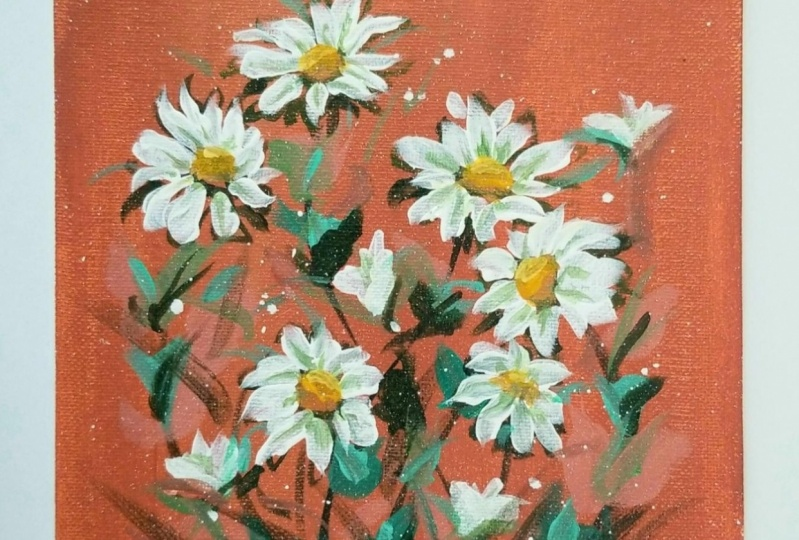 Rustic daisies