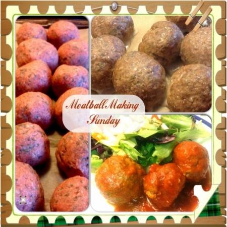 Snowy Sunday Meatball Making