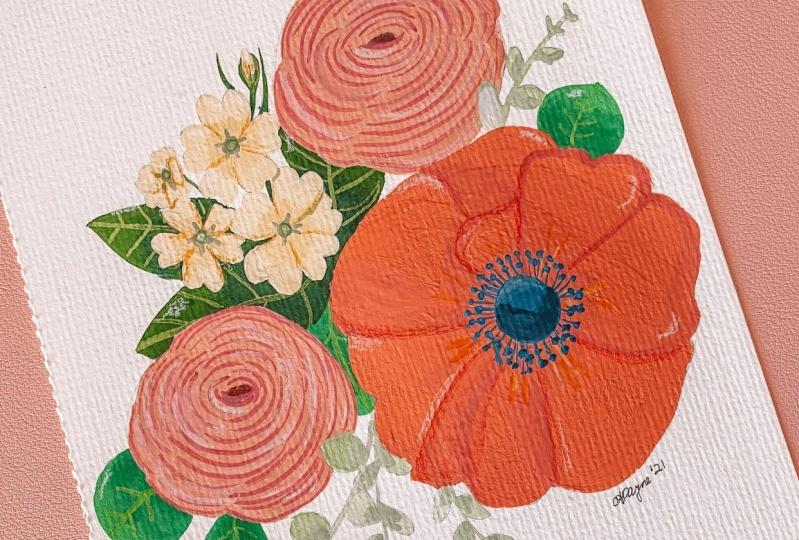 Gouache Bouquet