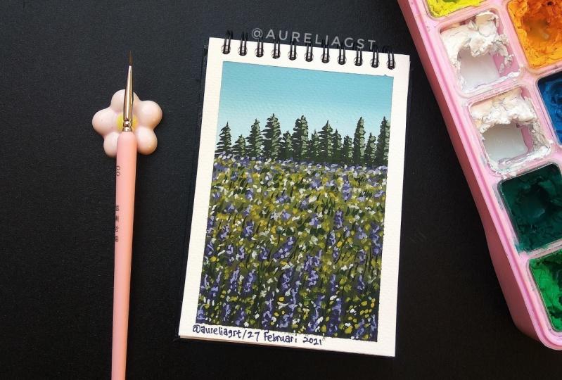 Flower Field by Aurelia