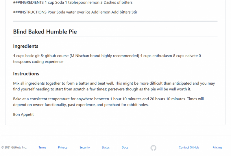 Cookbook Blind Baked Humble Pie Recipe