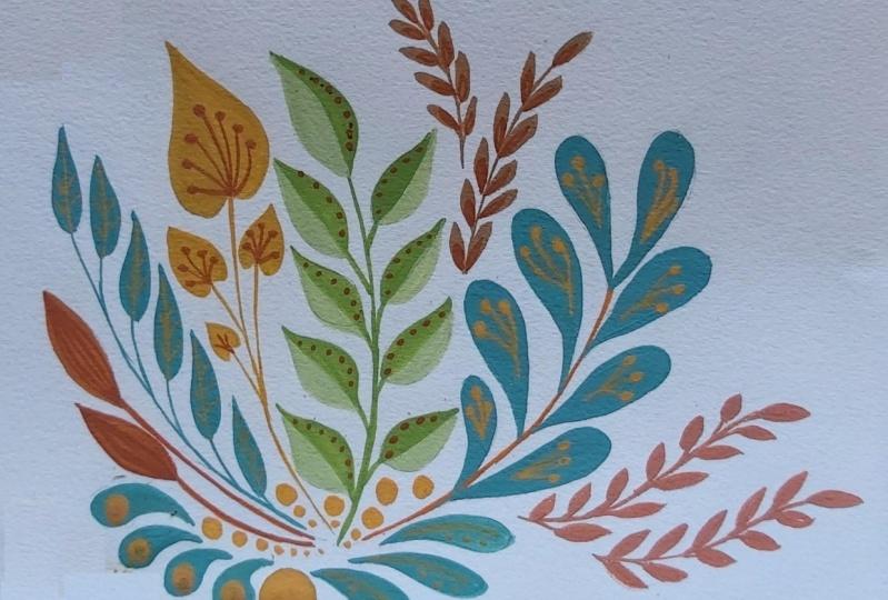 Gouache Leaves