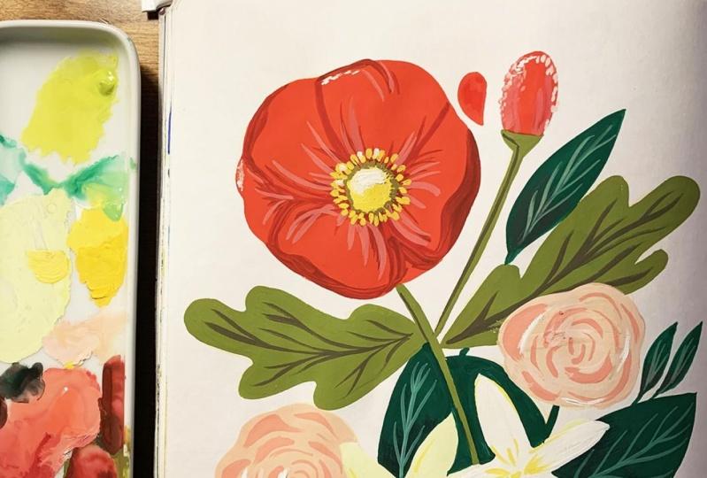 My Gouache Bouquet