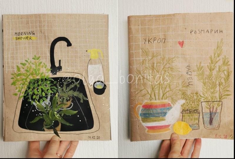 Illustrations from my wastepaper sketchbook