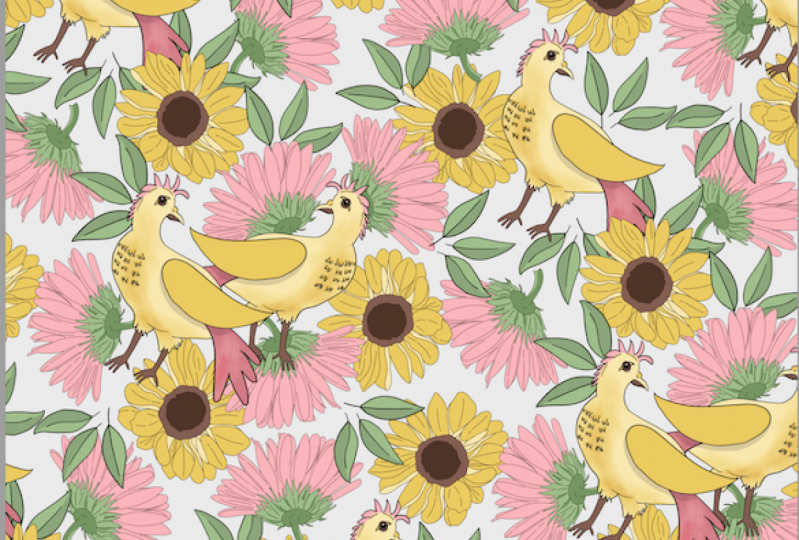 Flora and Fauna Repeats by Jen Lezan