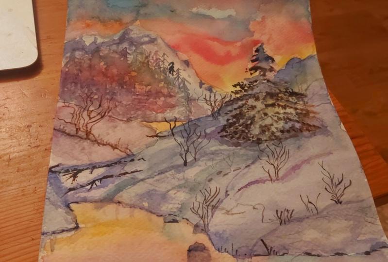 My snowy sunset