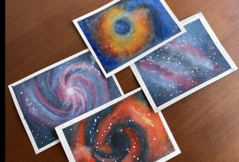 Galaxy Shapes - Vortex, Nebula, Spiral and Milky Way