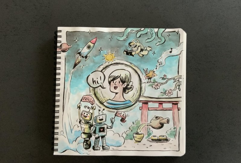 Having fun with my sketchbook